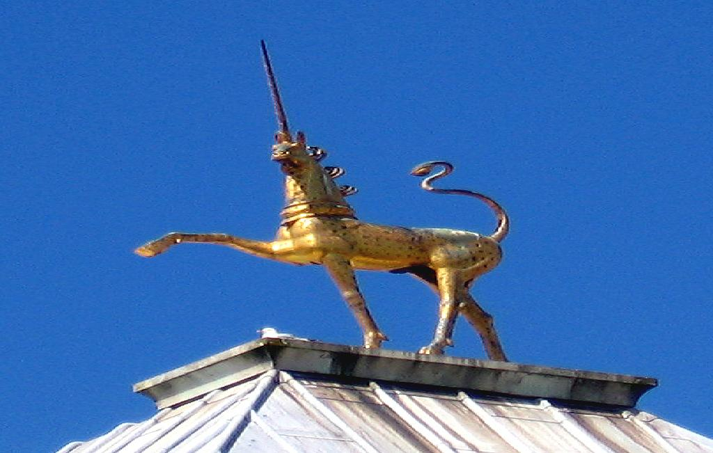 Unicorn on roof of Bristol Council House