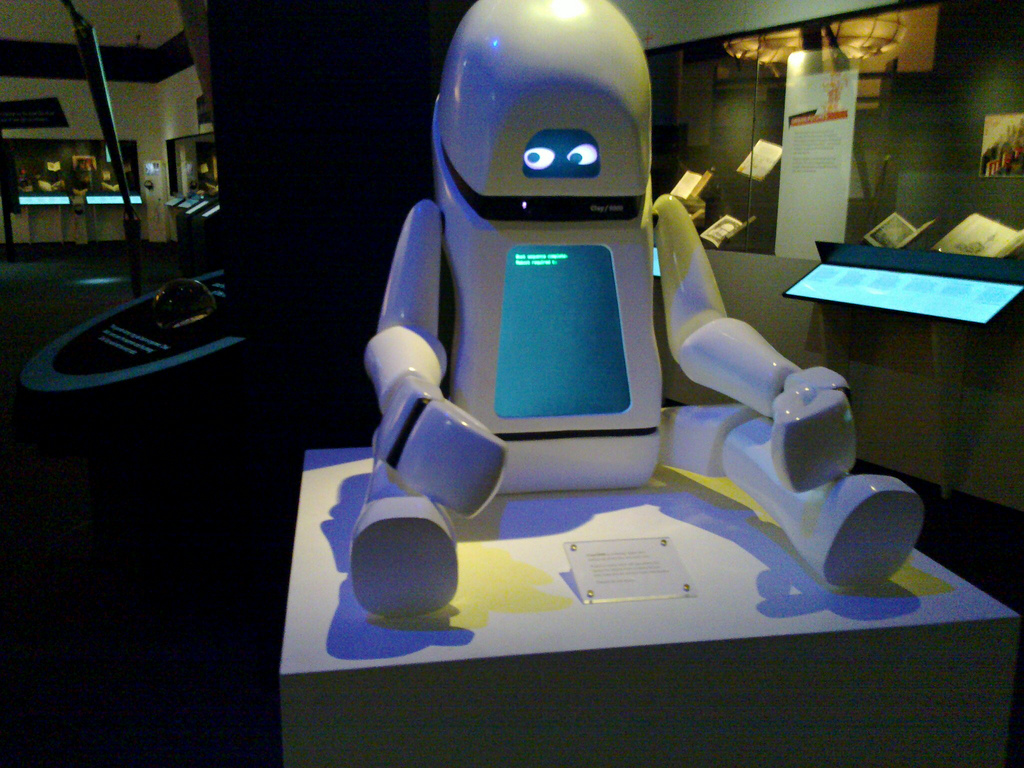 Robot at the British Library Science Fiction Exhibition