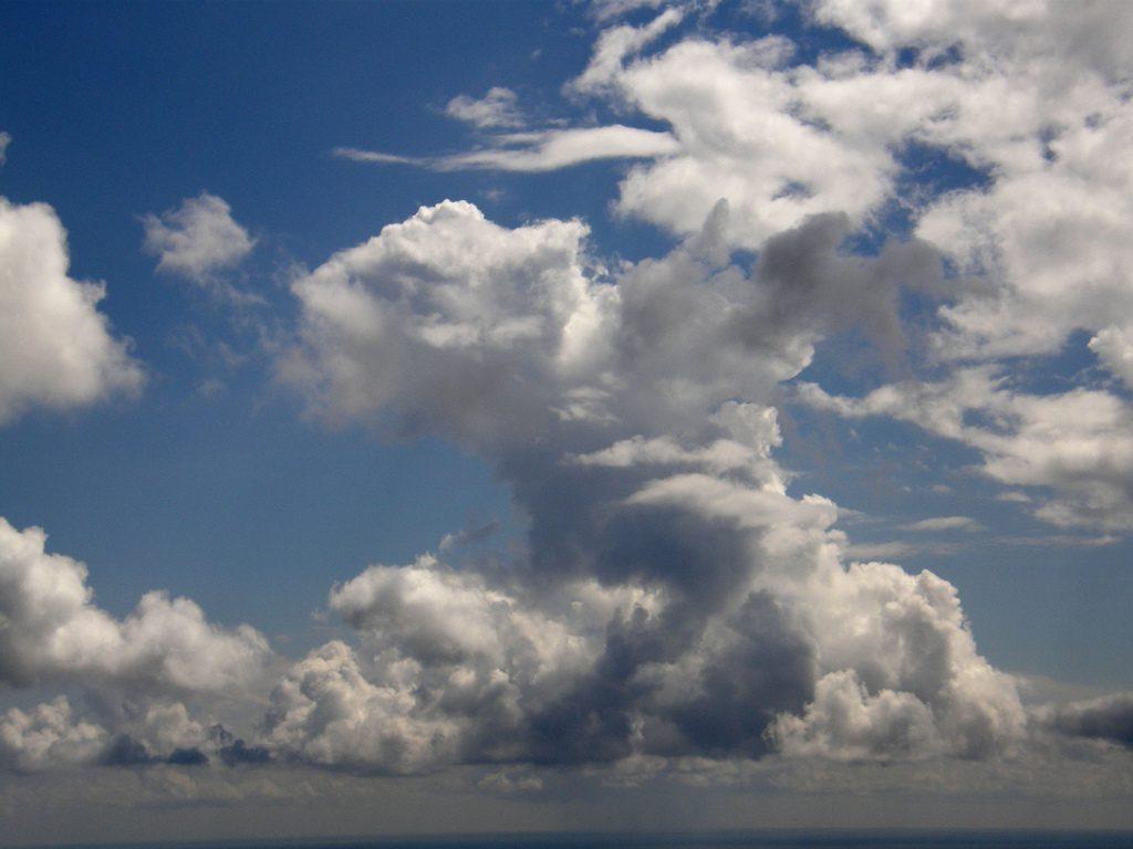 Clouds over Santorini