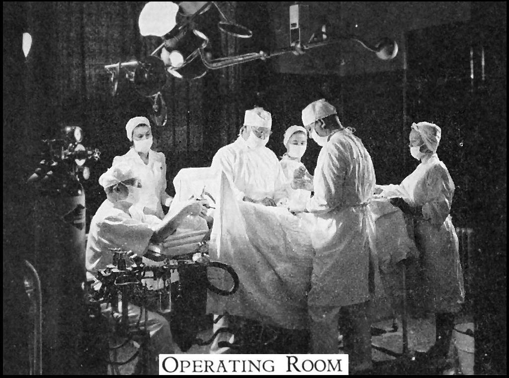 Operating room in the Elliot Community Hospital