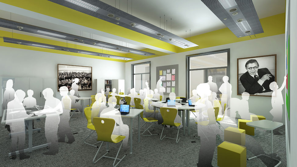 Winifred Holtby with Tweendykes - classroom CGI