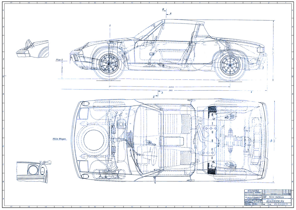 Porsche 914 Roadster Blueprint