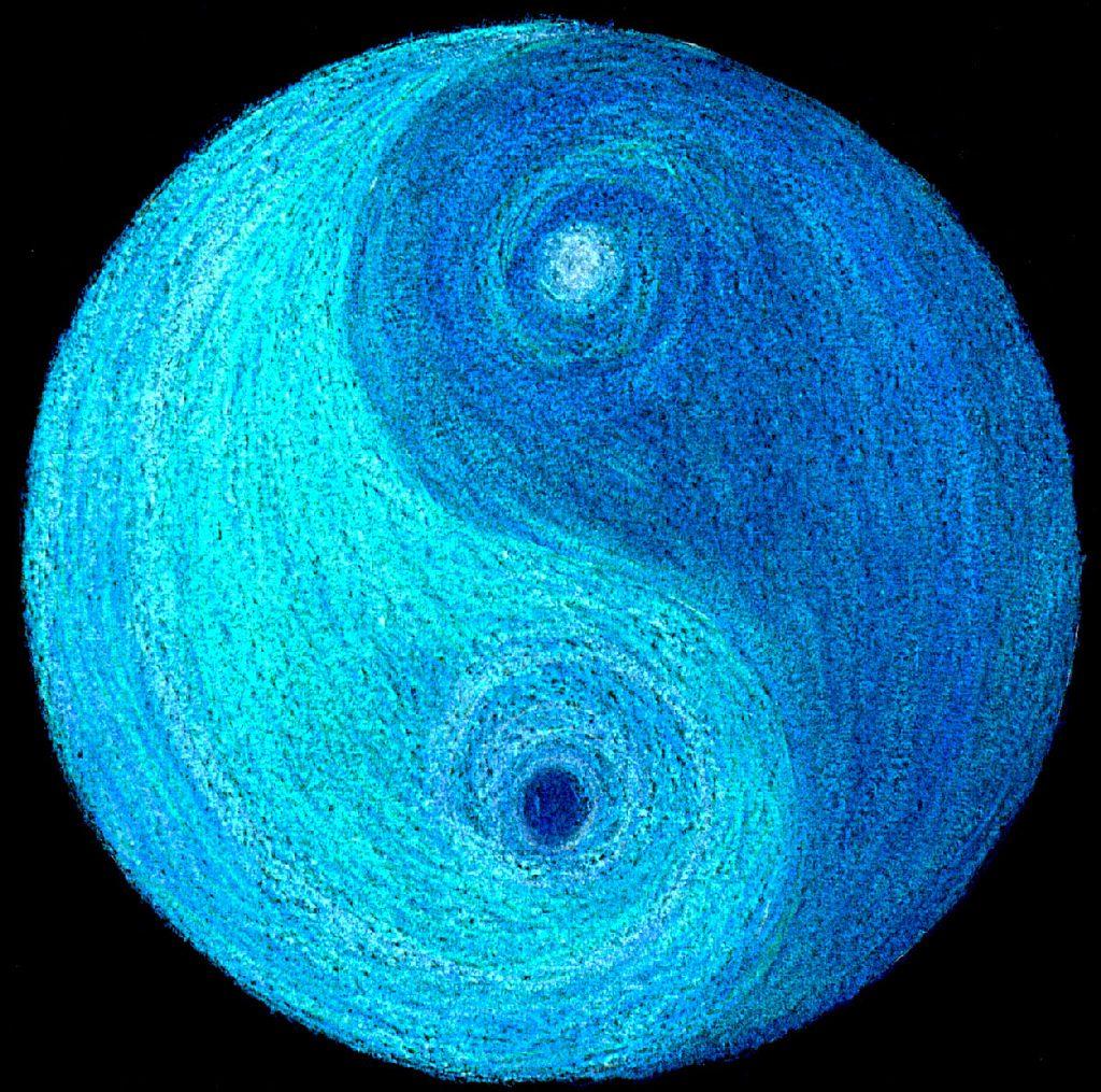 Yin yang frio -azul-