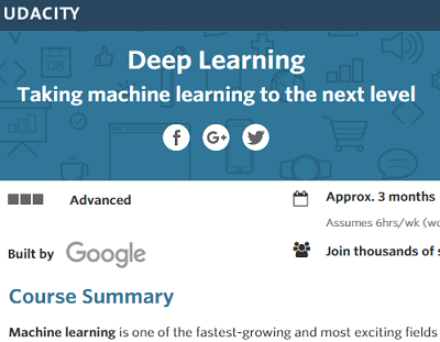 Google Offers New Deep Learning Course on Udacity - DATAVERSITY