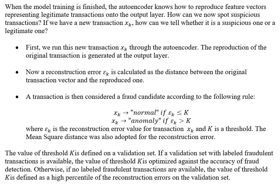 Fraud Detection Using a Neural Autoencoder - DATAVERSITY